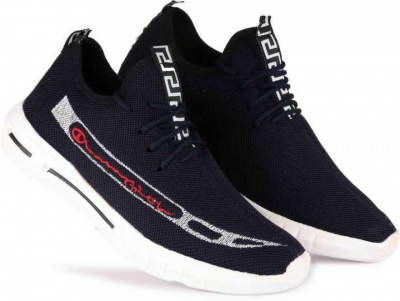 DLS  ( Set of 8 PAIR ) Mesh CASUAL Shoes ,911-NAVY